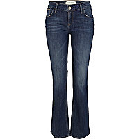 Mid wash Cleo bootcut jeans