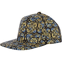 Blue tribal print trucker hat