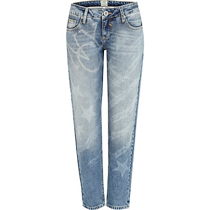 Mid wash New York flag Cassie boyfriend jeans