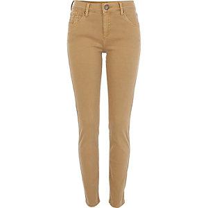 Beige Amelie superskinny jeans