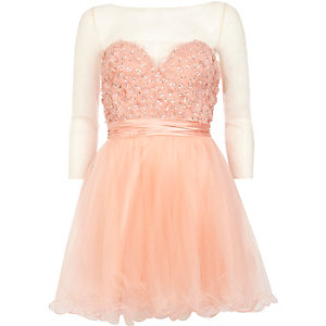 Coral Forever Unique embellished prom dress