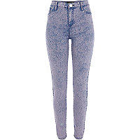 Pink acid wash Molly jeggings