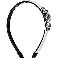White diamante embellished alice band