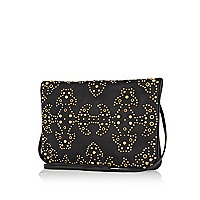 Black western studded clutch bag