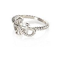 Silver tone anchor ring