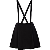 Black dungaree skater skirt