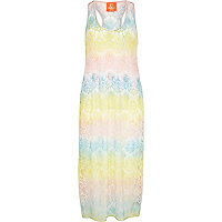 Pink Pacha rainbow lace maxi dress