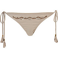 Grey Pacha embellished bikini bottoms