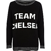 Black team chelsea jumper