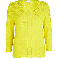 Bright yellow ladder back jumper