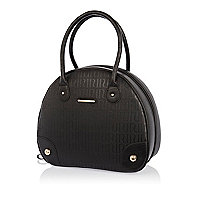 Black RI embossed pattern vanity case