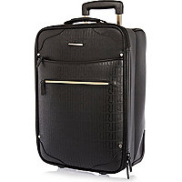 Black RI embossed pattern suitcase