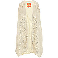 Cream Pacha embellished waistcoat