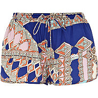 Blue Pacha geometric tribal print shorts
