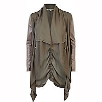 Green lightweight waterfall biker jacket