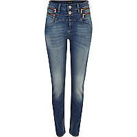 Mid wash Etta high waisted superskinny jeans