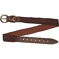 Brown plaited belt