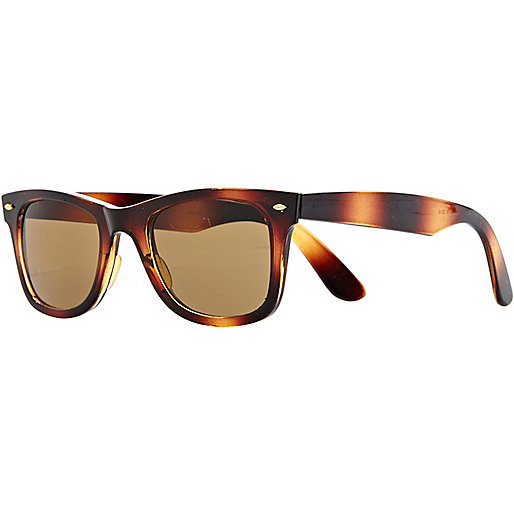 Brown print retro sunglasses