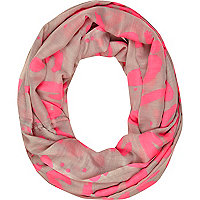 Pink graffiti print snood