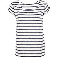 Navy and white Breton stripe t-shirt
