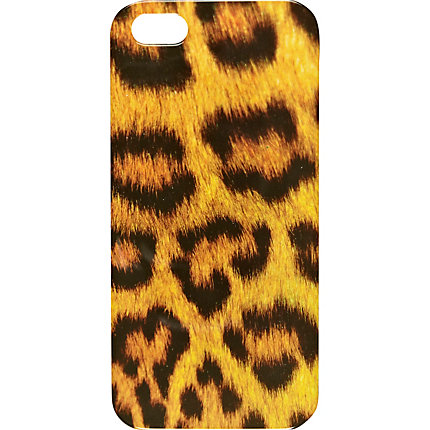 Brown leopard print iPhone 5 case