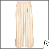 Pink stripe Rihanna wide leg trousers