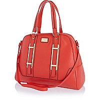 Red bowler bag