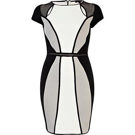 mesh insert dress