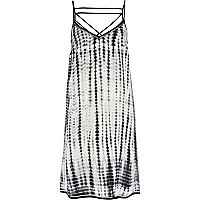 Black tie dye strap cami dress