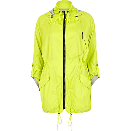 Lime lightweight parka jacket