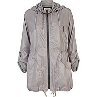Light grey lightweight parka jacket