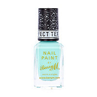 Turquoise Barry M texture nail varnish