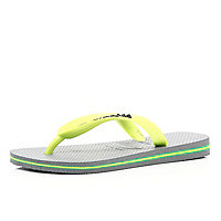 Grey layered sole Havaiana flip flops