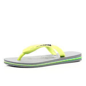 Grey layered sole Havaianas flip flops