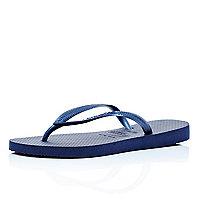Dark blue slim Havaianas flip flops