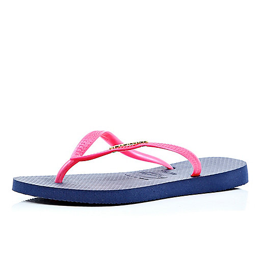 Pink and blue Havaianas
