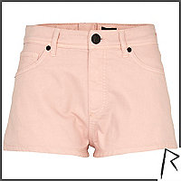 Pink Rihanna zip back knicker shorts