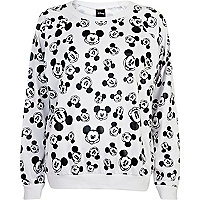 Black and white Mickey Mouse print sweatshirt