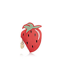 Red strawberry jelly purse