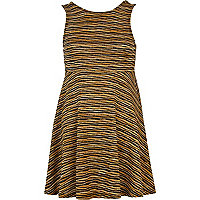Bronze Chelsea Girl knitted skater dress