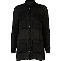 Black long sleeve military shirt