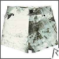 Green tie dye Rihanna knicker shorts
