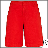Red Rihanna boy shorts