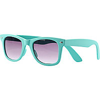 Aqua rubber retro sunglasses