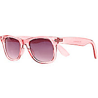 Pink transparent retro sunglasses