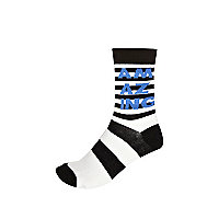Black and white striped amazing ankle socks