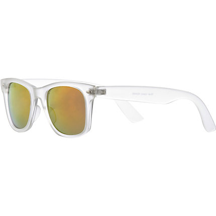 Clear frosted retro sunglasses
