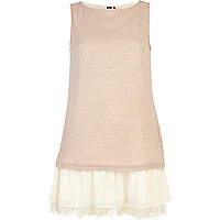 Cream Chelsea Girl 2 in 1 sleeveless dress