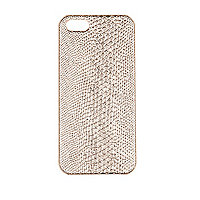 Light pink snakeskin iPhone 5 case