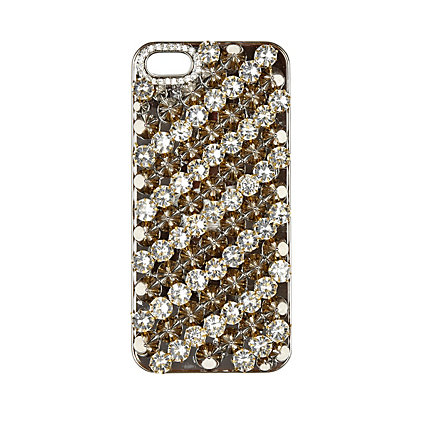 Black gem stone studded iPhone 5 case